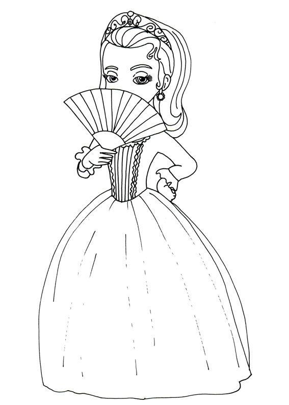 Stampare Principessa Sofia Da Colorare.60 Disegni Di Sofia La Principessa Da Colorare Principesse