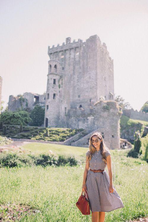 Gal Meets Glam Blarney Castle - J.Crew dress and Prada bag