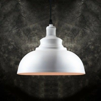 Dome pendant light litfad industrial iron retro vintage o