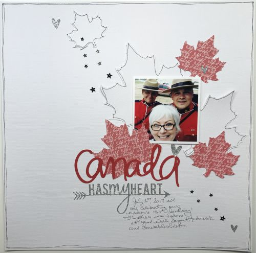 Canada layout by Mari Clarke