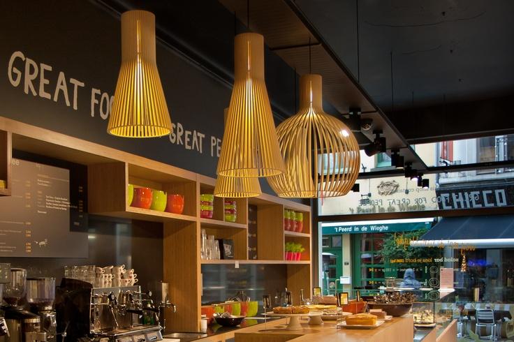 #Secto #Design #Lamps @Restaurant StarMeal   Antwerp, Belgium   Secto 4200, Secto 4201, Octo 4240