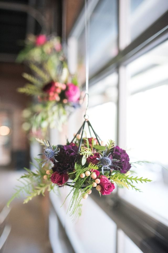 modern geometric flower arrangements