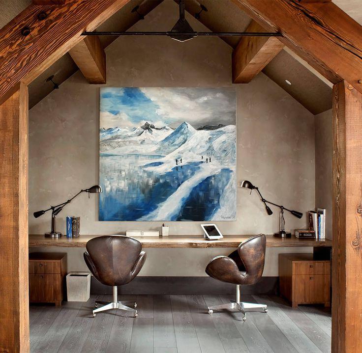 Art Home Decoration Chalet Tableau peinture montagne banquise enneigée, neige, glacier - acrylique sur toile par VanessaPeka sur Etsy https://www.etsy.com/fr/listing/548184375/tableau-peinture-montagne-banquise