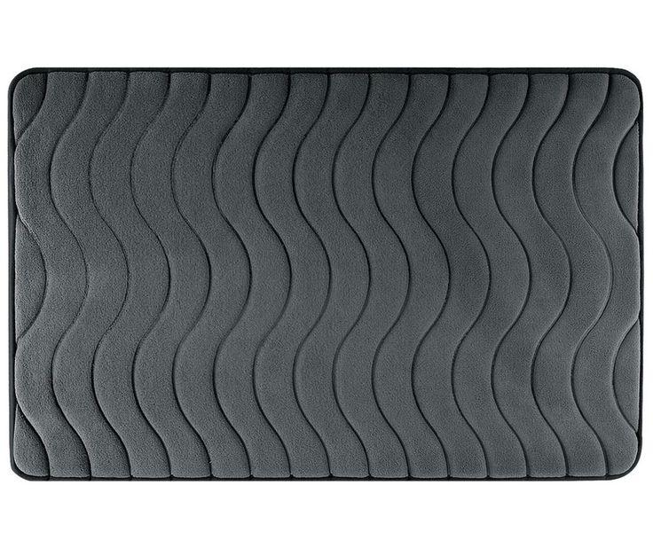 Covoras de baie Wave Graphite 60x90 cm - Vivre