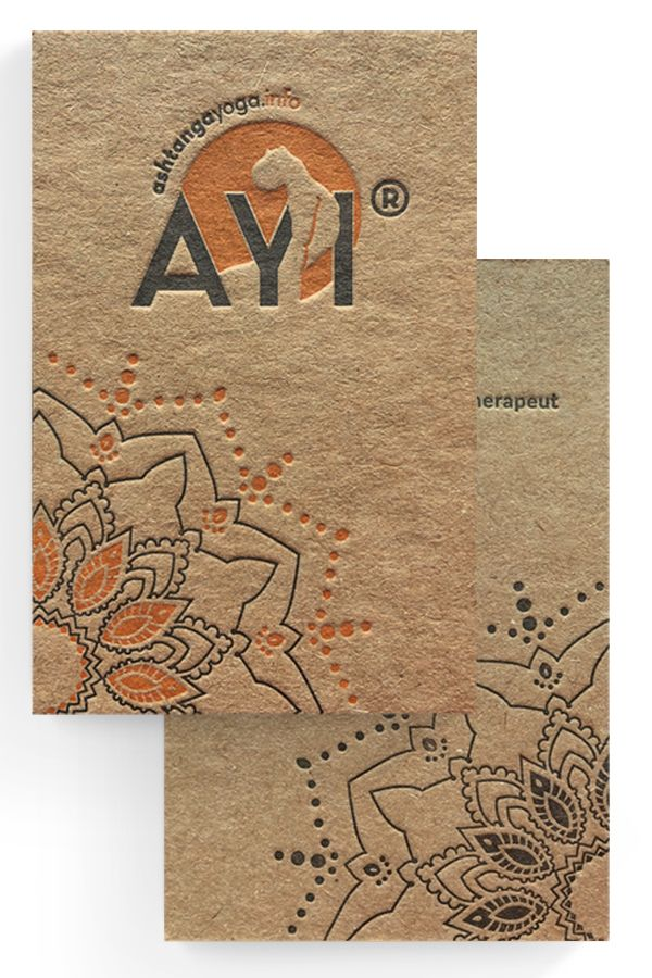 Umweltfreundliche Visitenkarten Für Ashtanga Yogaschule