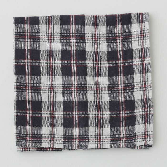 shop fog linen — Napkin: Navy Red Check