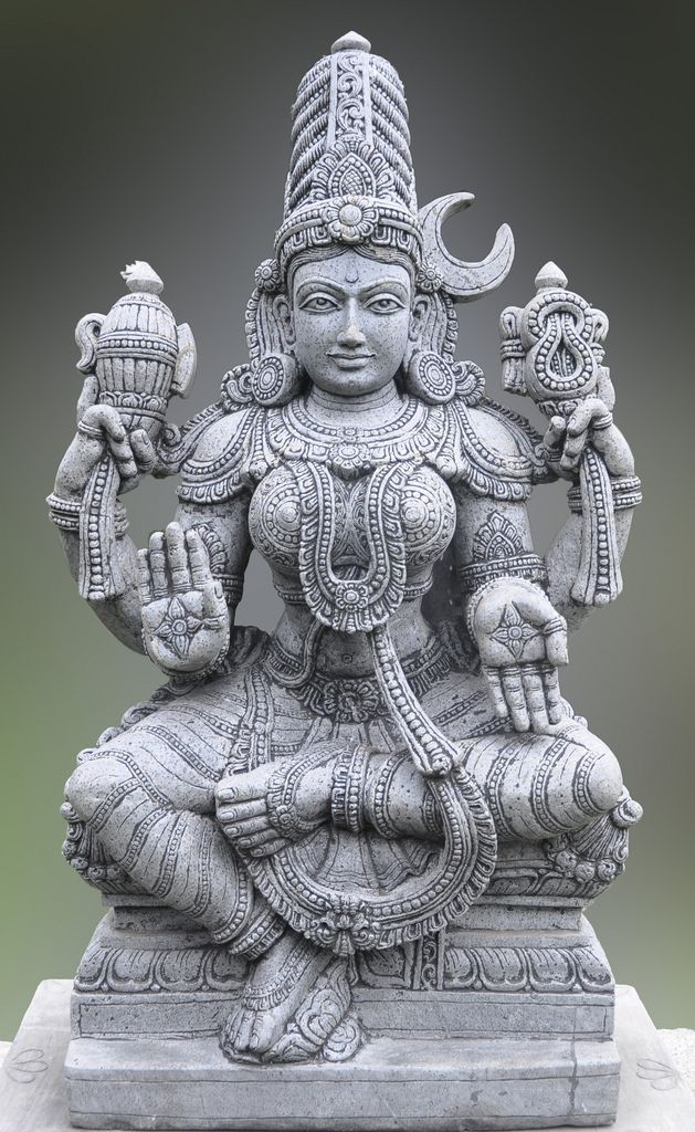 Parvati statue - The wife of Siva and a benevolent aspect of Devi: Hindu goddess of plenty.