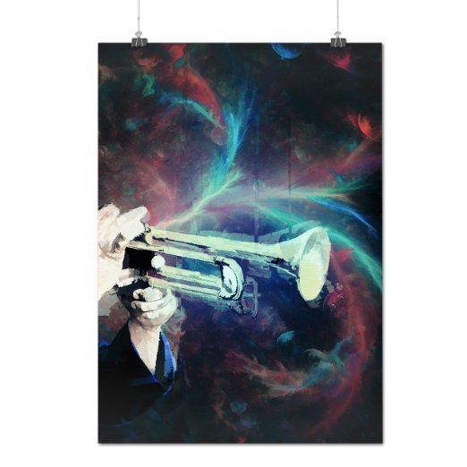 Tromba Suono Musica Strumento Matte/Glossy Poster A2 (60cm x 42cm)   Wellcoda