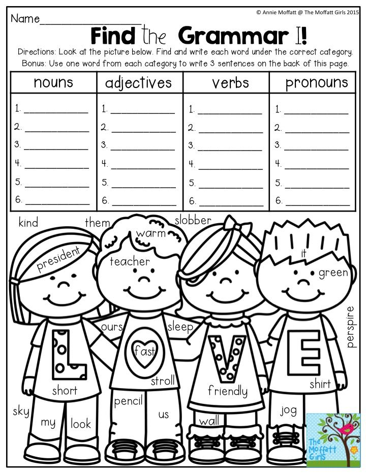Common Core Worksheets For Third Grade Excel  Best Grammar Images On Pinterest  Teaching Grammar Teaching  Small Letters Worksheets Pdf with Fact Families Worksheets 2nd Grade Word Find The Grammar Read A Word In The Picture And Decide If It Is A Nursing Math Practice Worksheets
