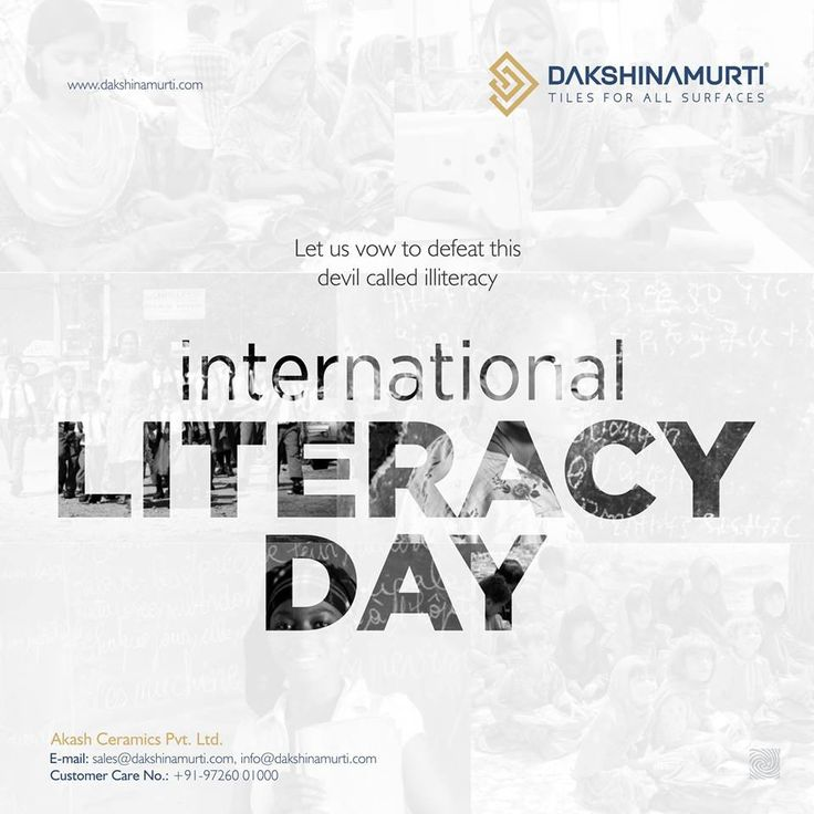 Let us vow the defeat this devil call illiteracy  International Literacy Day!  #DakshinamurtiTiles #FloorTiles #Ceramic #International #Literacy #Day #LiteracyDay #internationalliteracyday