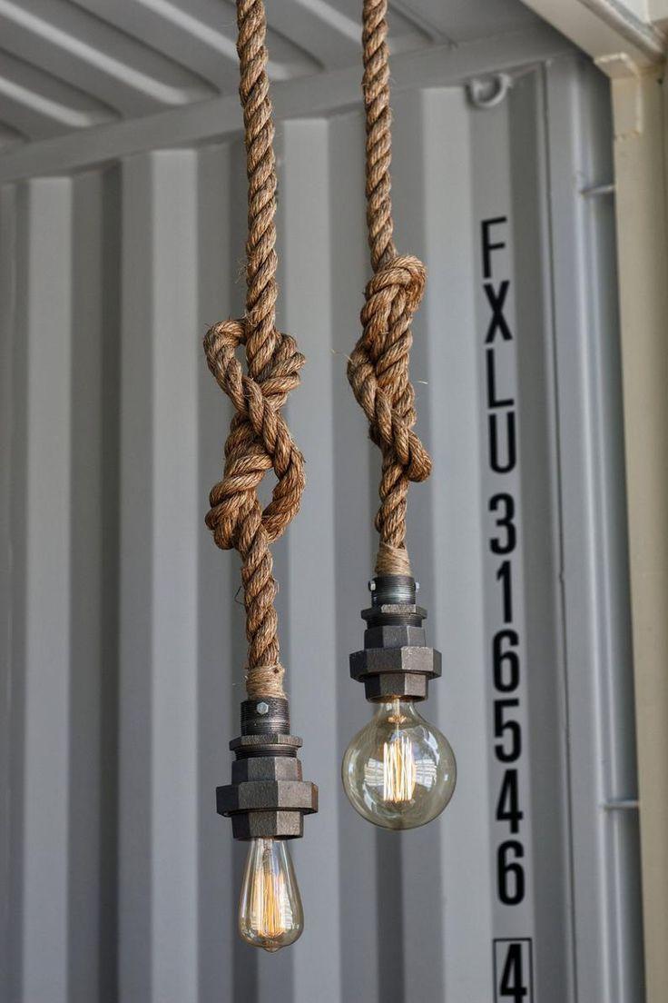 Industriele Lampen Echte Blikvangers In Een Stoer Interieur In 2020 Industriele Lampen Touw Lamp Buislamp