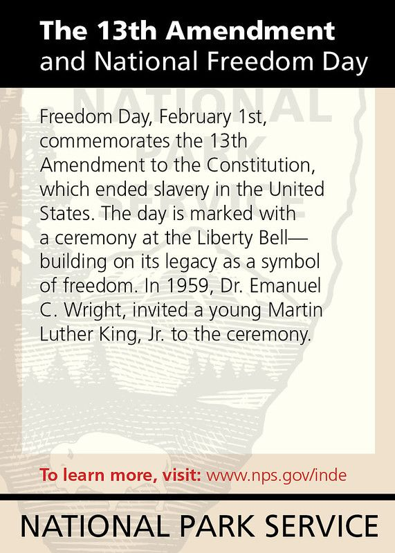 The 13th Amendment And National Freedom Day Freedom Day Freedom Symbols Of Freedom