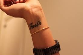 Faith wrist tattoo