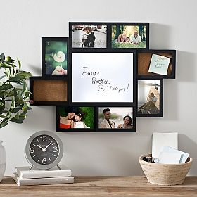 Light-Up White Board Photo Collage Frame