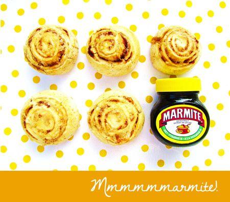 Spiraalbroodjes met Marmite (Marmite & cheese buns)