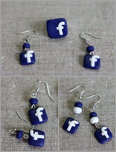 Facebook earrings