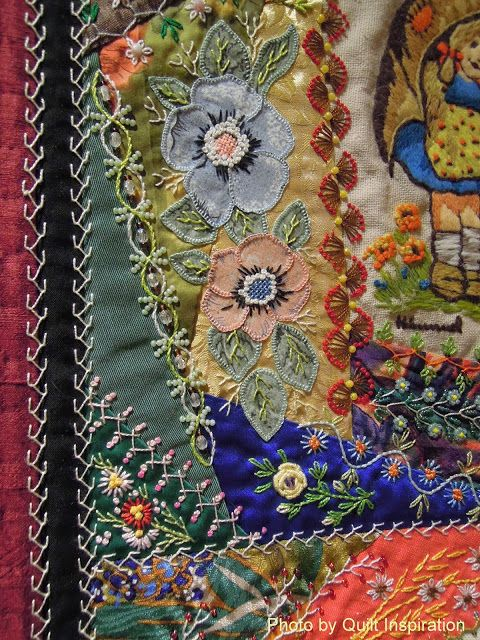 close up, Little Darlings by Gerlinde Hruzek, photo by Quilt Inspiration.  Outstanding Traditional Quilt at the 2013 Road to California Show.