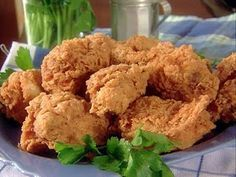 Make Paula Deen's Spicy Buttermilk Fried Chicken on 7/6, Nat. Fried Chicken Day. http://bonzblogz.blogspot.com/2011/06/paula-deens-spicy-buttermilk-fried.html