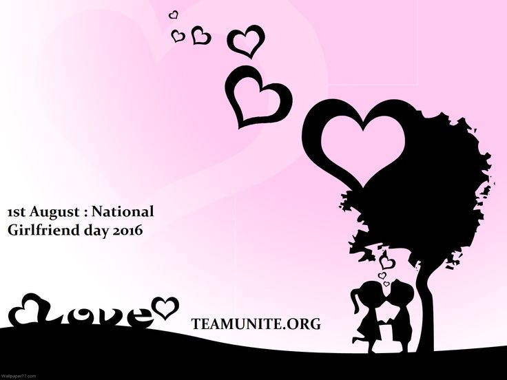 August 1st National Girlfriend GF Day Wishes Messages Quotes Images Wallpapers. National GF day 2016 messages quotes. 1st August National GF day images pics