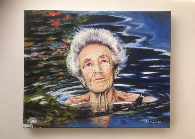 Yesterday, I handed over this painting to it's new owner, Francisca Nacht. It's my portrait (oil on canvas, 50 x 40 cm) of her grandmother on her 100th birthday, and has been an incredible lovely project. She was a very beautiful woman who lived to be 104 years. Fleeing Germany on a ship to Argentina in 1938, she fell in love with a Romanian man, who she married. See more of my art at jonaslinell.com.  Cheers,  Jonas  #art #painting #oil #portrait #canvas #argentina #buenosaires