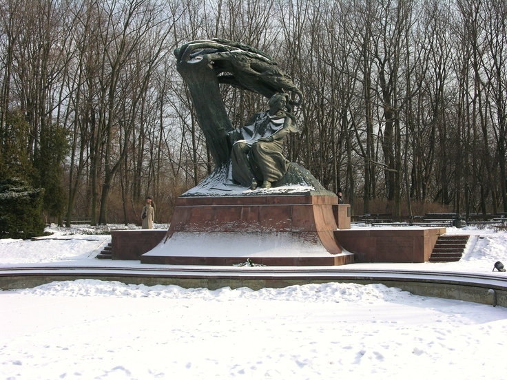 The Chopin Monument in Warsaw