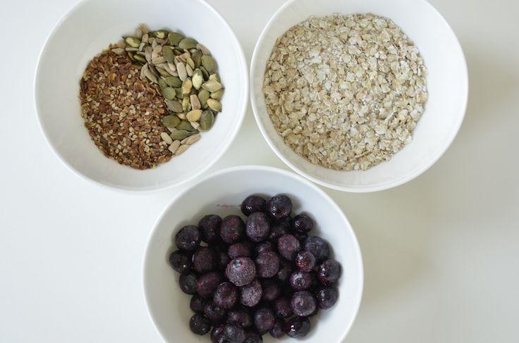 Recept voor gezond, zuivelvrij en glutenvrij ontbijt met boekweitvlokken.