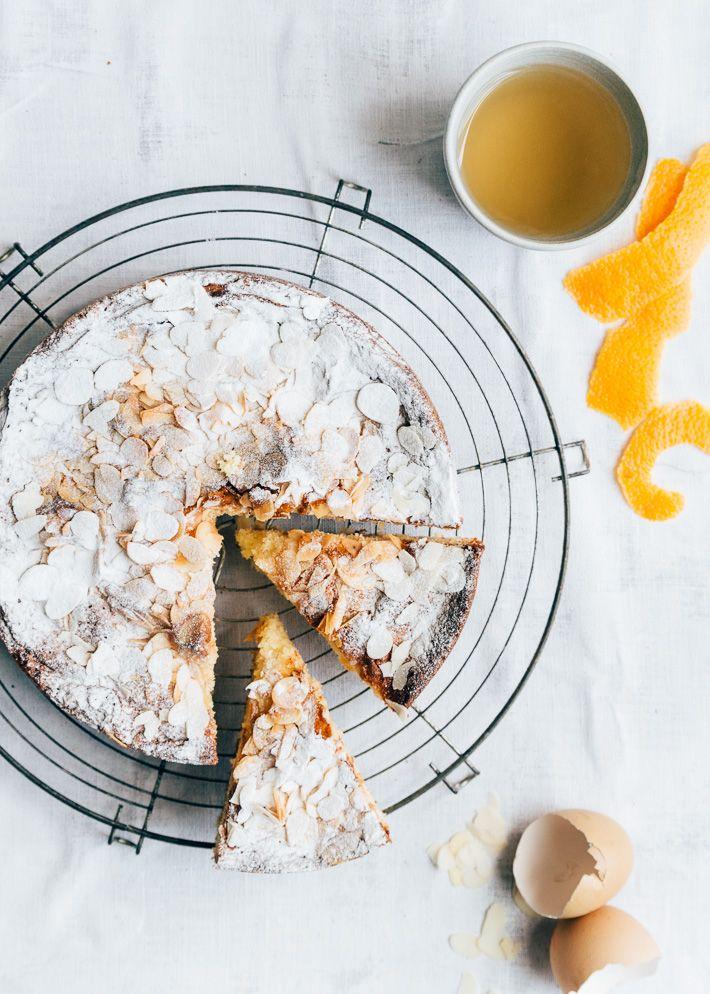 Sinaasappelcake met amandelen Happy Birthday to Annika