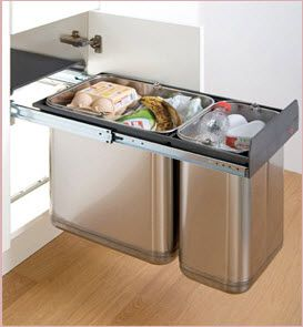 Recycling Bins Integrated Wesco Laundry Cabinets
