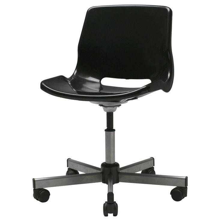 25 snille swivel chair black ikea
