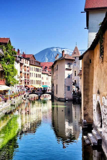 Annecy, France - I'd love a flat here one day with a balcony overlooking the evening atmosphere.