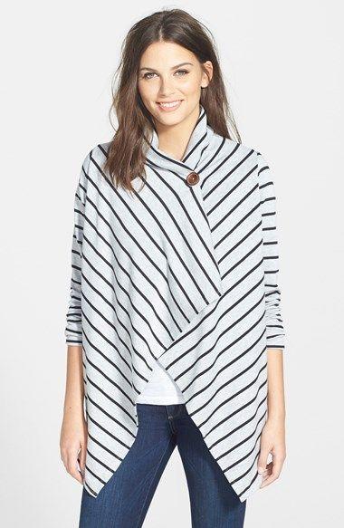 Bobeau+Asymmetrical+Fleece+Wrap Cardigan #Nordstrom- why do I like this? it looks like a sweatshirt and I want to wear it every day