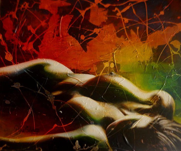 """""""EL COLOR DEL PENSAMIENTO"""" Tècnica mixta sobre tela de .60 x .50cm.2014. Exposiciòn Internacional en el MUSEO DE ARTE CONTEMPORÁNEO MAC EN BOGOTA """"ENCUENTROS Y VISIONES """""""