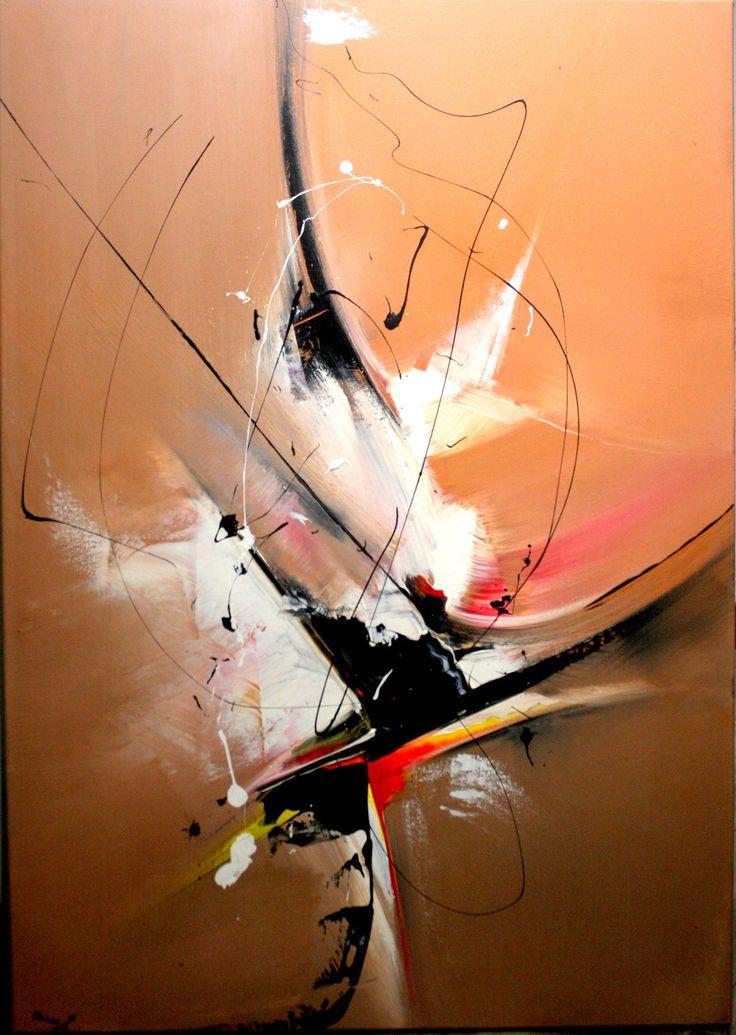 Tableau Contemporain, peinture acrylique 91/64 cm