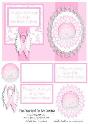 Breast Cancer Card on Craftsuprint - Add To Basket!