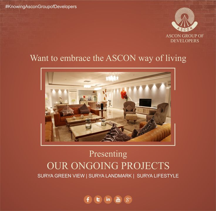 After an array of breakthrough projects ASCON is ready to set a new milestone with its Ongoing Projects. Get Set to embrace the ASCON way of living with-  Surya Green View | Surya Landmark | Surya Lifestyle ‪#‎AsconRealty‬ ‪#‎SuratRealty‬ ‪#‎OngoingProjects‬ ‪#‎RealEstate‬