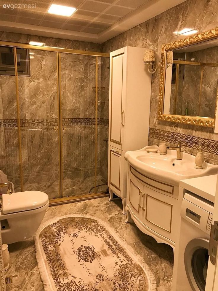 Classic Bathroom Classic Style Decoration Bathroom Bathroom Cabinet Klasik Banyo Klasik Stil Dekorasyon Classic Bathroom Shower Cabin Trendy Bathroom