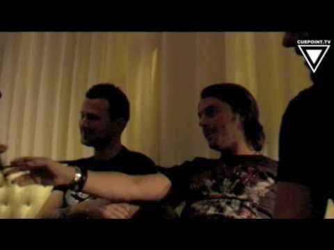 INTERVIEW CuepointTV interviews Sebastian Ingrosso, Axwell & Dirty South @ F12, Stockholm Sweden.