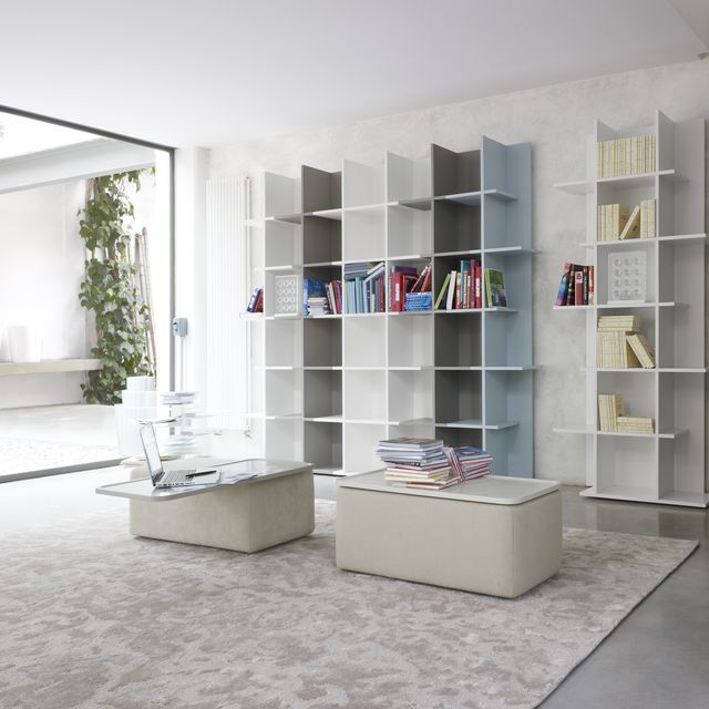 Cut & Paste –Oka is a modular bookcase made up of single or double cells - Cinna