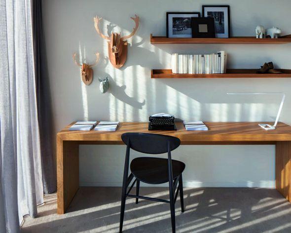 Elegant desk and shelving
