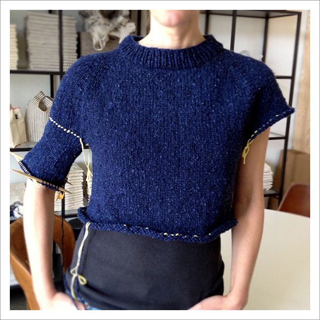 How to improvise a top-down sweater, Part 5: The art of sweater shaping | Fringe Association
