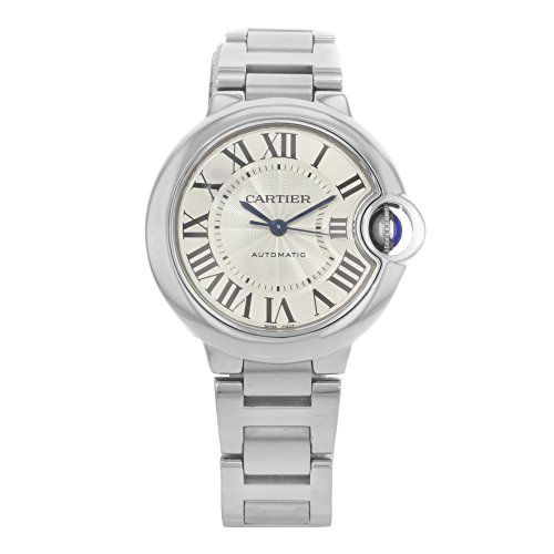#cartierwatchesforsale #cartierwatchesforwomen Cartier Ballon Bleu Automatic Silver Flinque Dial Ladies Watch W6920071 Check https://www.carrywatches.com