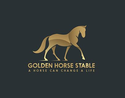 A Golden Horse Stable logo is For Sale:please for more information call: +(964) 770 717 3217www.rethink-iraq.com