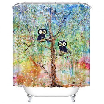 SHARE & Get it FREE   Waterproof Mouldproof Cartoon Owls Printed Shower CurtainFor Fashion Lovers only:80,000+ Items·FREE SHIPPING Join Dresslily: Get YOUR $50 NOW!