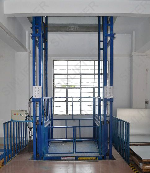 Goods lift cargo freight elevator vertical lift platform for 1 story elevator