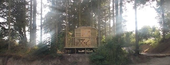 Glamping in a Shepherds Hut and Pod on the Lake at Oaklands, Leisure and Fishery in The Shropshire Hills