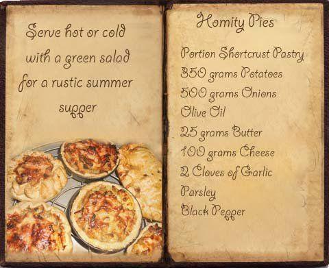 Homity Pie Recipe Book