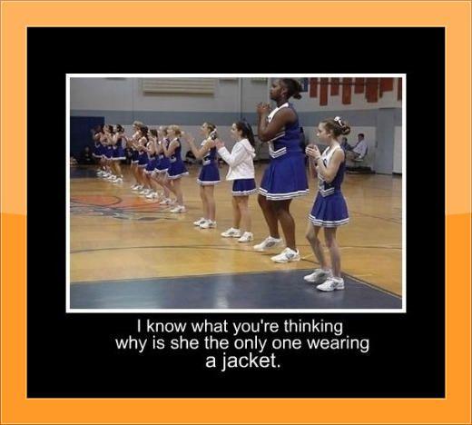 CheerleadingCheerleading, Balance Beams, Laugh, Jackets, Funny Stuff, Humor, So Funny, Funnystuff, Giggles