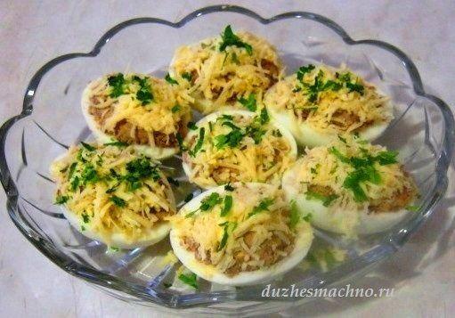 Вкусная закуска - фаршированные яйца