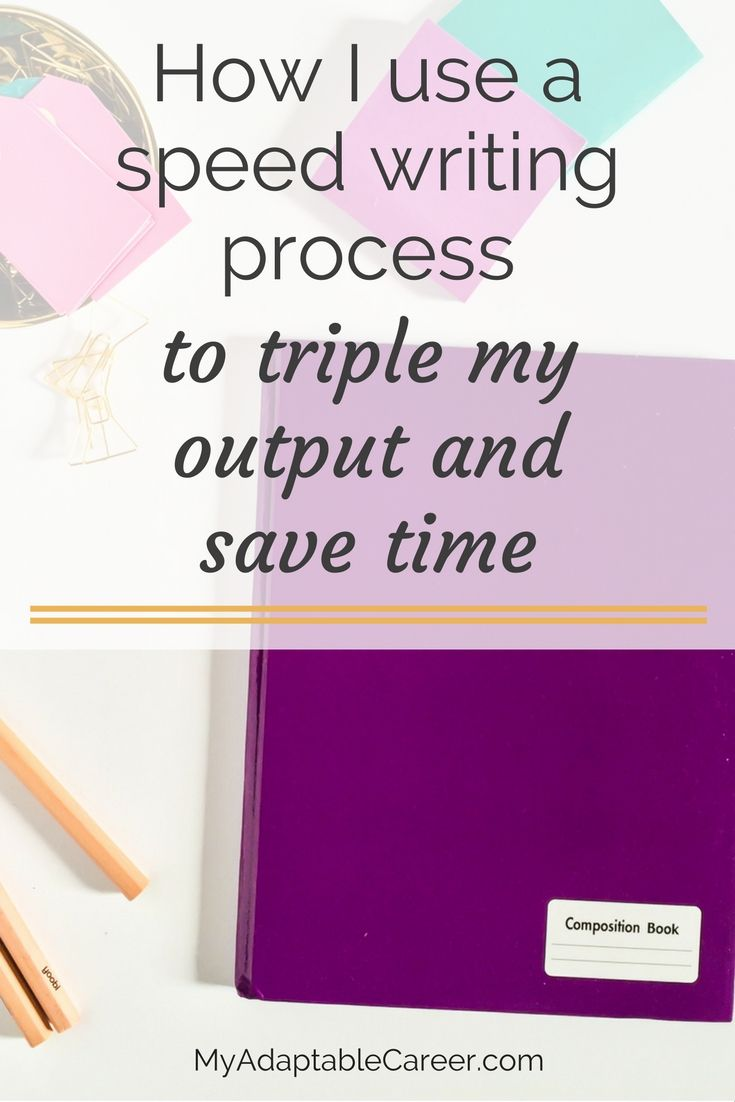 You write a lot of content for your blog or business. Learn how to step up your writing productivity with this 4-step speed writing process. Step 3 has revolutionized my writing process--I can write blog posts in half the time it used to take me! Pin now and read later!