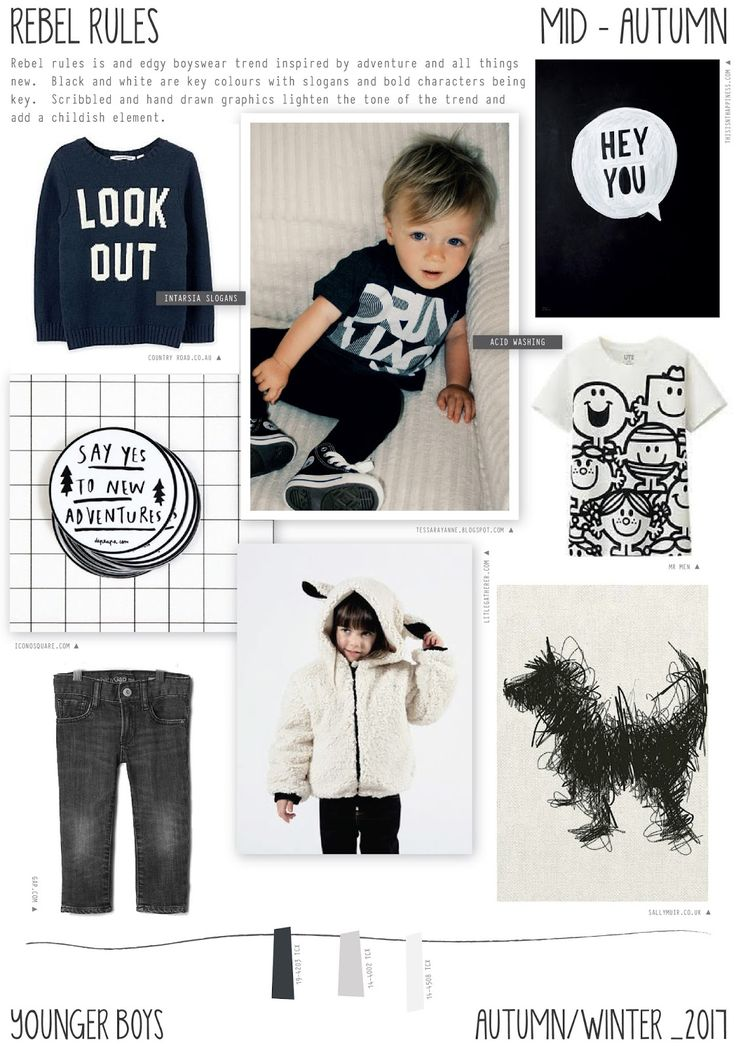 Emily Kiddy: Rebel Rules - Autumn/Winter 2016/17 - Younger Boys Trend